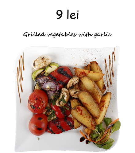 Grilled vegetables with garlic